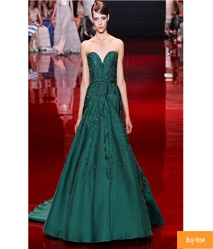 Modest-Elie-Saab-Couture-2016-Vintage-Designer-Green-Formal-Prom-Dresses-Strapless-Beaded-Lace-Appliques-Evening