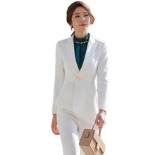 Office Uniform Designs Women Work Trouser Suit Plus Size Business Casual Pantsui