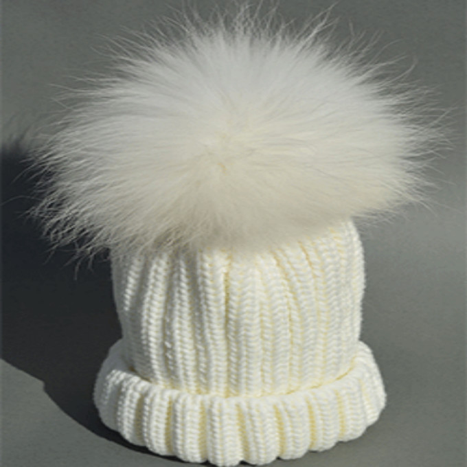 8c362dbc1e9 Which in shower Black White 100% Real Fox Fur Pom Pom Kids Hat Children  Winter Skull Cap Warm Pompon Beanie Hat For Boy Girl-in Hats   Caps from  Mother ...
