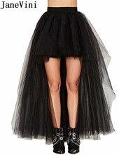 JaneVini High Low Tulle Crinoline Rockabilly Petticoat Cosplay Wedding Bridal Petticoat for Dresses Underskirt Petticoat Tutu