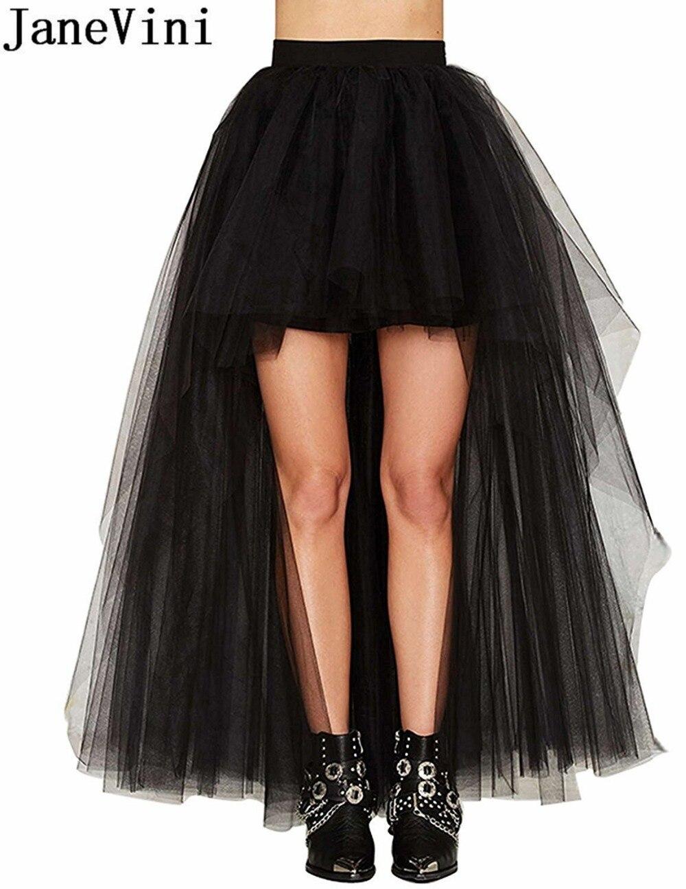 232586c8c JaneVini alto bajo tul Crinoline Rockabilly enaguas Cosplay boda novia  enaguas para vestidos enaguas ...