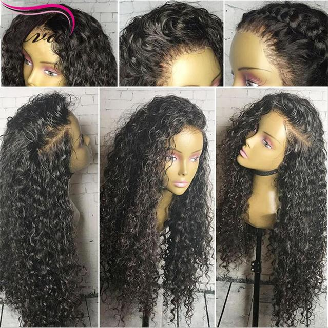 eb311d10d Curly Full Lace Human Hair Wigs For Black Women Wet Wavy Virgin Brazilian  Lace Front Wigs