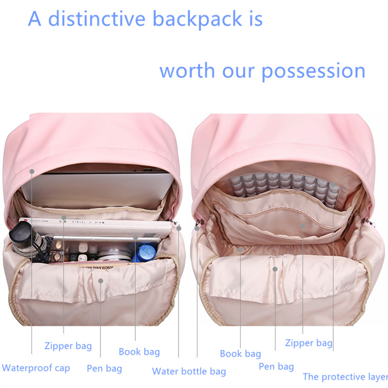 Teenager School Backpack Adolescence for Girls Laptop Backpack Popular 13.3 14 15.6 inch High school Student Female schoolbag