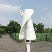VAWT 100W 200W 300W wind generator 12v 24v option maglev windmill for home or streetlight with low voltage boost controller