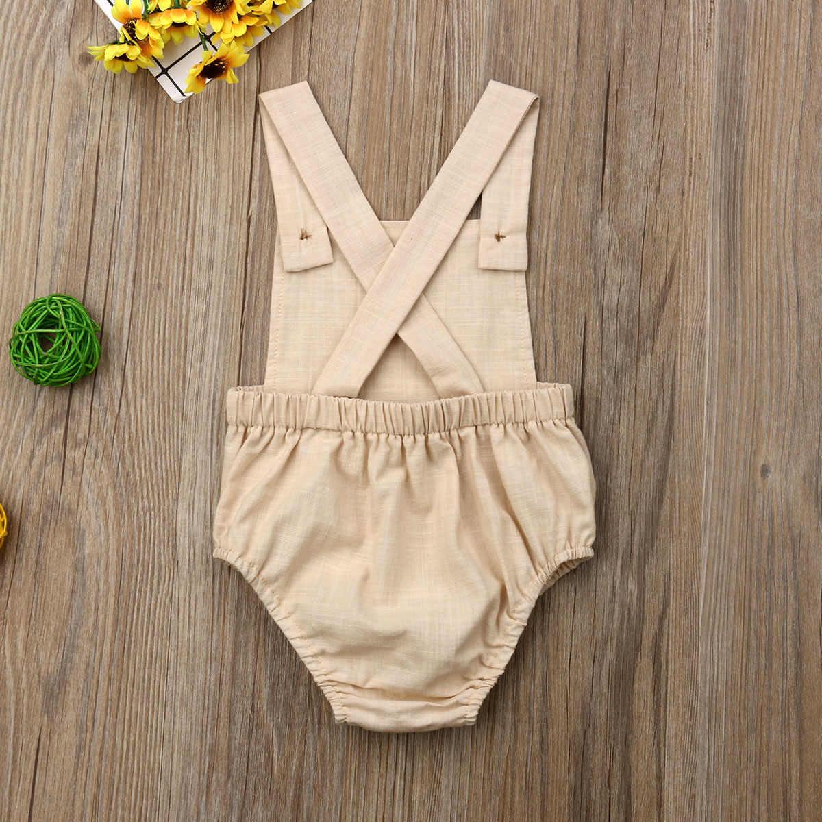 ทารกแรกเกิดน่ารักเด็กบอดี้สูทเด็กทารกสาวเสื้อผ้า Babygrow Jumpsuit ชุดสูท Sunsuit Soild เด็กเสื้อผ้าฤดูร้อน 2019