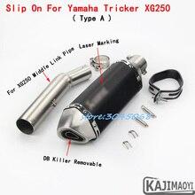 Полная система наклейка для мотоцикла выхлопная лазерная маркировка Mufferl с DB Killer средняя Соединительная труба для Yamaha Tricker XG250 Dirt Bike