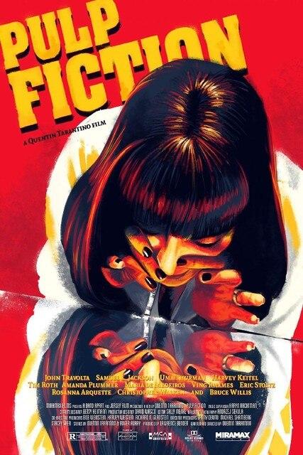 Pulp Fiction Uma Thurman Movie Art Silk Poster Room Wall Decor 12x18 20