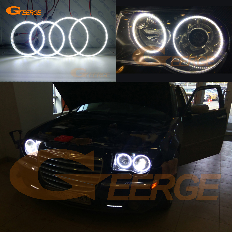 For Chrysler 300C 2004 2005 2008 2009 2010 Excellent 4 pcs smd led angel eyes Ultrabright illumination Angel Eyes kit DRL