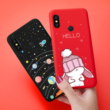 ASINA Silicone Case For Xiaomi Redmi Note 6 Pro Cute Cartoon Cover Matte 3D Relief Coque Capa Shockproof Bumper