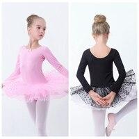 Girls Toddler Ballet Tutu Dress Pink Black Swan Lake Ballet Stage Performance Wear Lovely Kids Dot