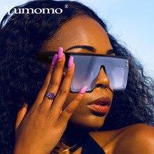 YUMOMO Oversized Square Sunglasses Women Fashion Gradient Sun Glasses Mirror Lens Large Size Brand Designer Top Eyewear UV400