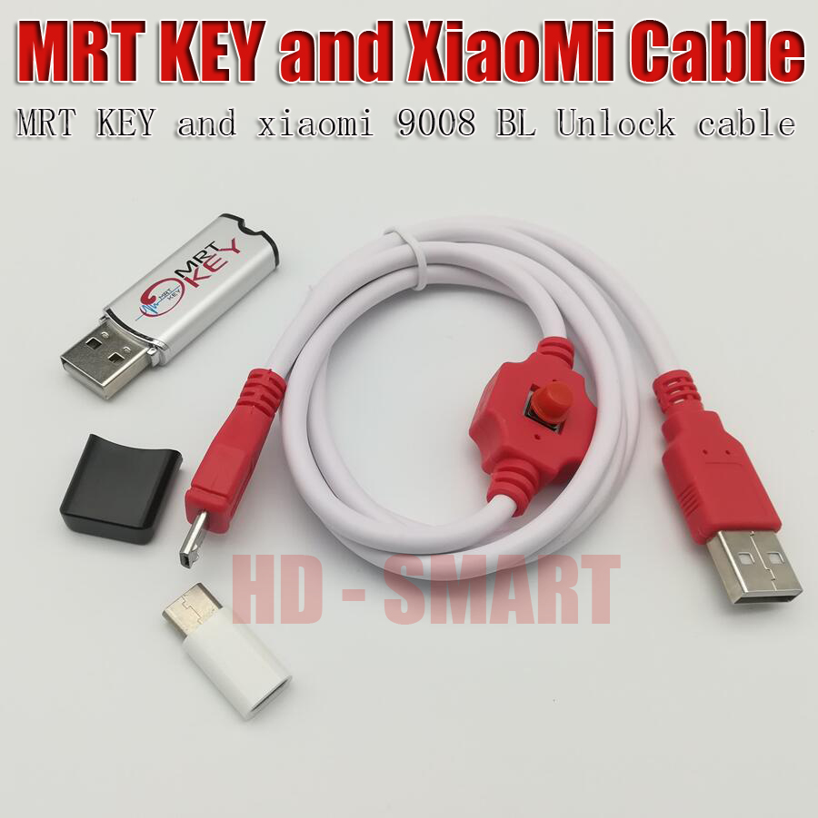 New MRT dongle key + xiaomi9008 cable For coolpad hongmi unlock account or remove password imei repair Fully activate version