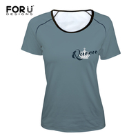 FORUDESIGNS Summer Lover Tshirt KING QUEEN Imperial Crown Couple T Shirt Women Funny Letter Print T