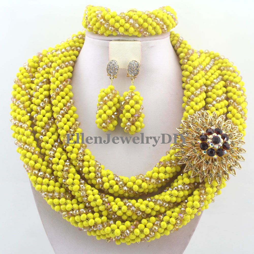 Handmade Statement Necklace Crystal Women Necklaces Costume Jewelry Nigerian Wedding African Beads Jewelry Set W12412Handmade Statement Necklace Crystal Women Necklaces Costume Jewelry Nigerian Wedding African Beads Jewelry Set W12412