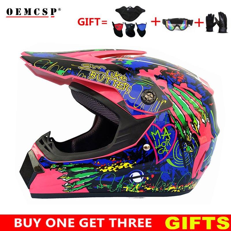 Motorcycle Helmet Off Road Professional ATV Cross Helmets MTB DH Racing Motocross Helmet Dirt Bike Capacete Moto Casco Free Gift