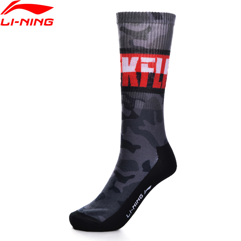 Li-Ning Men The Trend Sports Socks 24-26 Cm 98.1% Polyester 1.9% Spandex Comfort LiNing Sport Socks AWLP029 NWM439