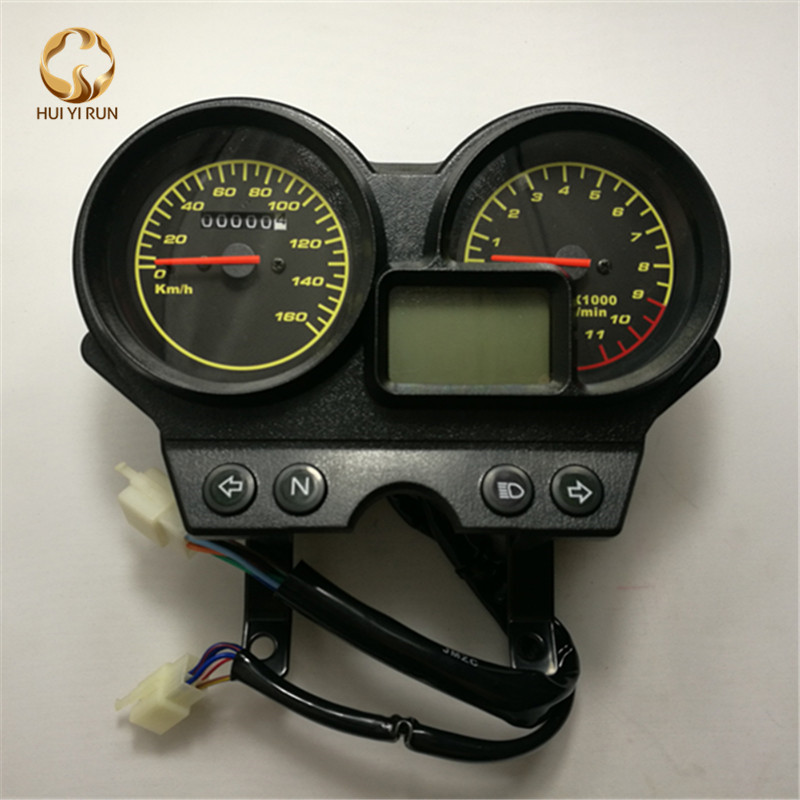 Readable Speedometer Gauge Panel Motorcycle Odometer Instrument LED KM H Racer ATV for GS