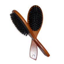 Natural Boar Bristle Hairbrush Massage Comb Anti-static Hair Scalp Paddle Brush Beech Wooden Handle Styling Tool