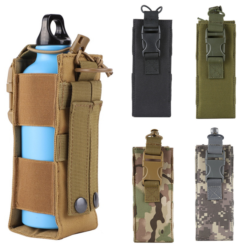 1050D Nylon Hiking Camping Tactical Molle Elastic Adjustable Water Bottle Pouch