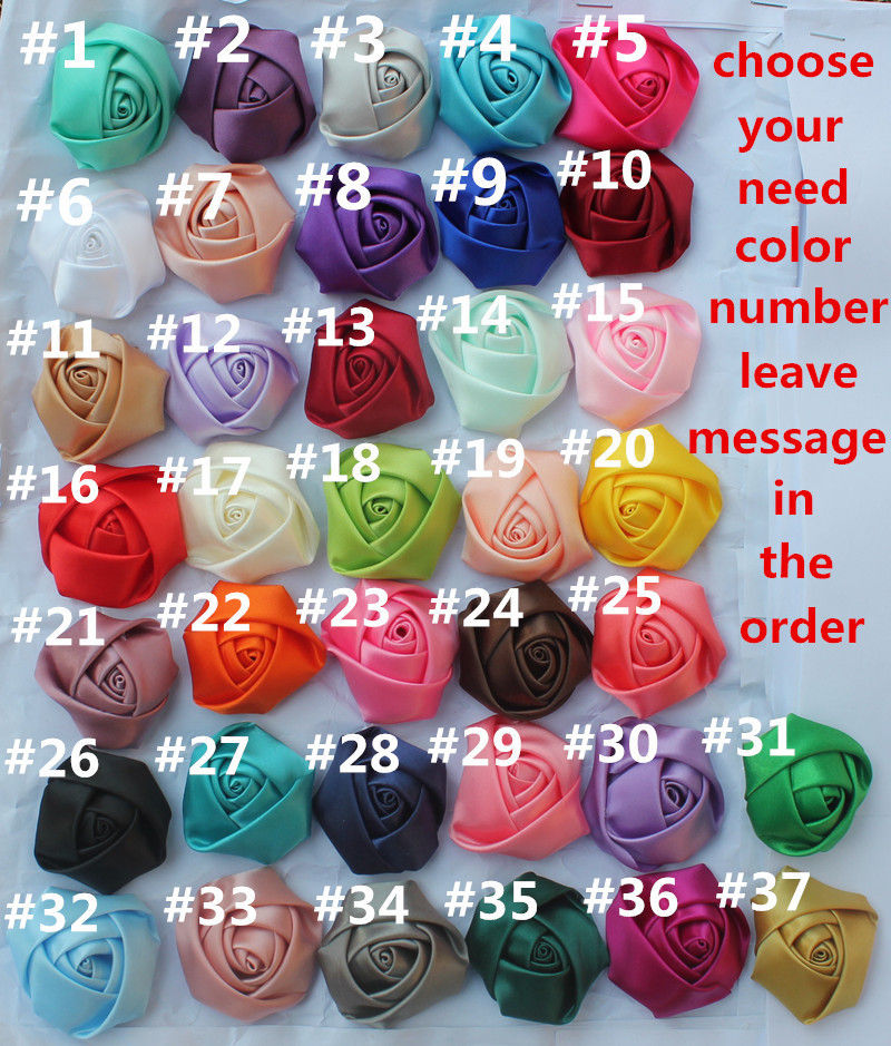100PCS 5cm(1.96inch) Wholesale Free Shipping Silk Rose Fake Rose Bouquet Material Artificial  Fabric Flower 37 Colors For Choose