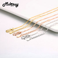 MoBuy 3 Colors Optional 100 925 Silver Extended Chain 18 Inches 45CM 925 Sterling Silver Fine