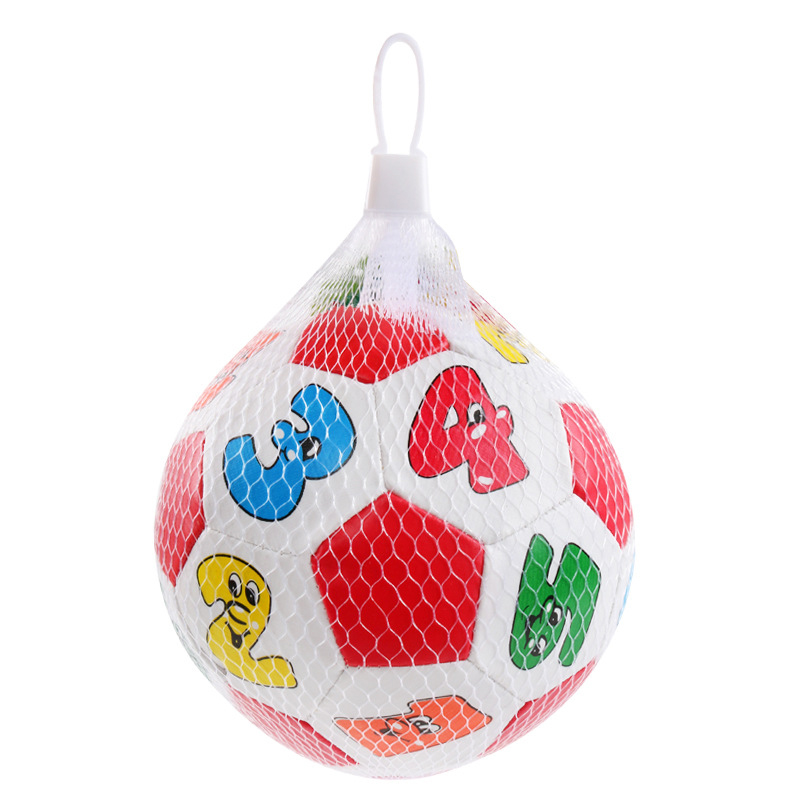 Купить с кэшбэком Baby hand catch balls letters identification small football PU soft cotton filling educational baby toys
