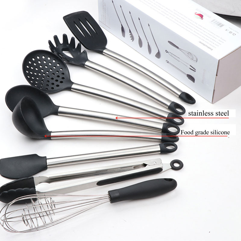 Higger 8pcs Set Kitchen Set Nonstick Cooking Spatulas Serving Tongs