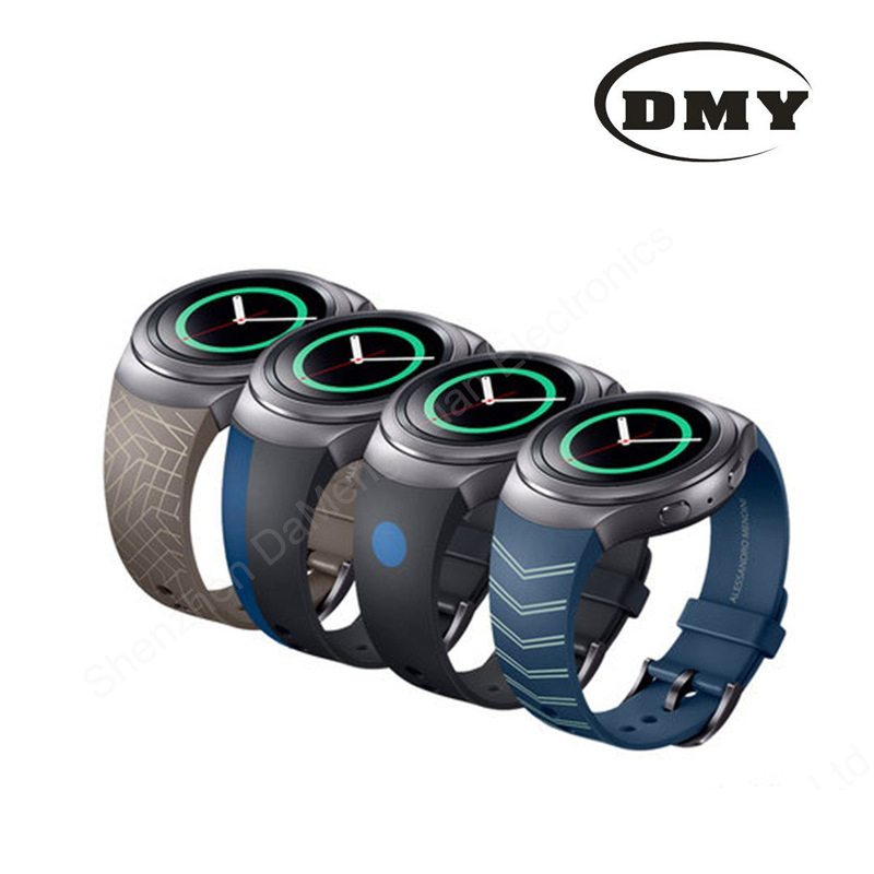 Fashion Luxury Silicone Watch Band Strap Sports Soft durable Wristband For Samsung Galaxy Gear S2 SM-R720 four colors available