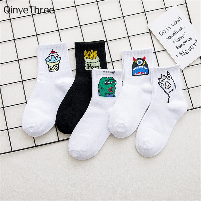 Cotton Casual Harajuku Low Cut   Socks   Women Chinese character   Sock   Men Cactus Fire Print Lovers Short   Socks   Calcetines dropship
