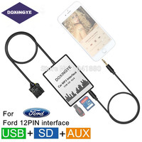DOXINGYE USB SD AUX Car MP3 Player CD Changer Adapte For Ford Focus Galaxy Ka Mondeo C Max Orion Explorer Interface music