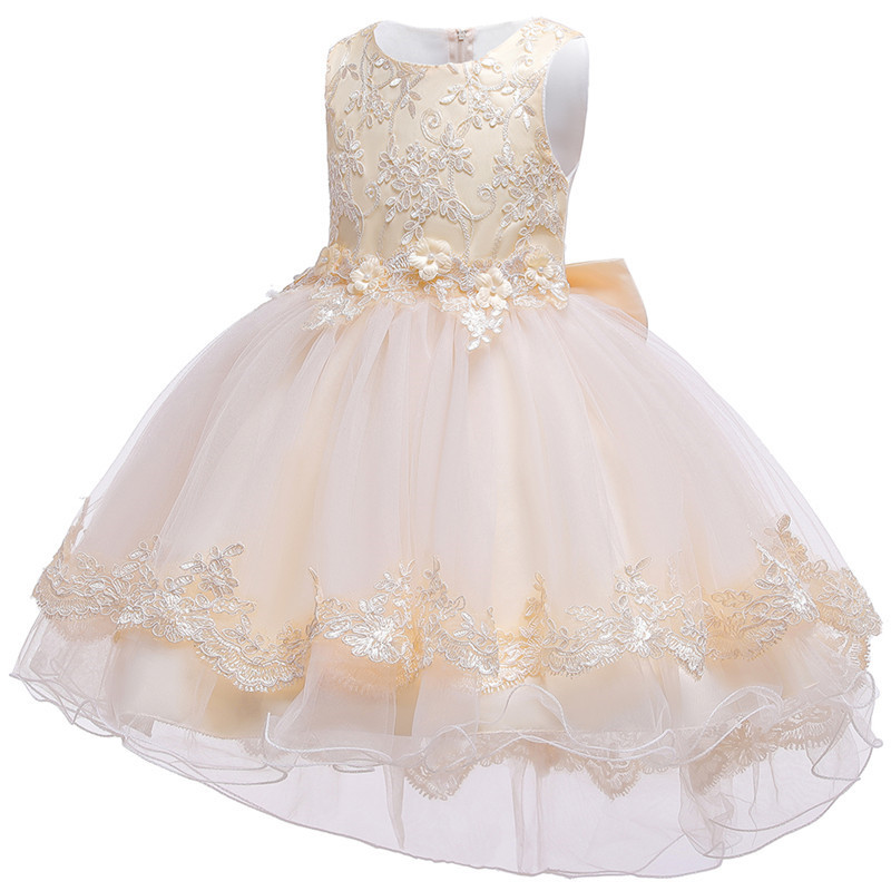 HTB1P.pGe8iE3KVjSZFMq6zQhVXa0 - Kids Princess Dresses For Girls Clothing Flower Party Girls Dress Elegant Wedding Dress For Girl Clothes 3 4 6 8 10 12 14 Years