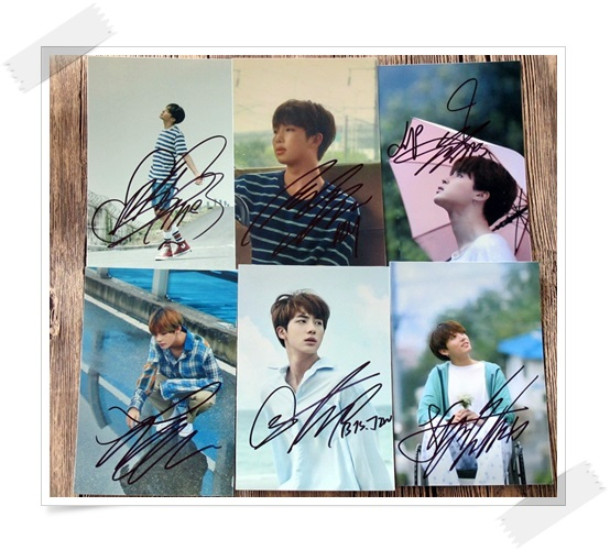 signed BTS autographed photo LOVE YOURSELF 6 inches freeshipping 6 photos set 102017 got7 got 7 jb autographed signed photo flight log arrival 6 inches new korean freeshipping 03 2017
