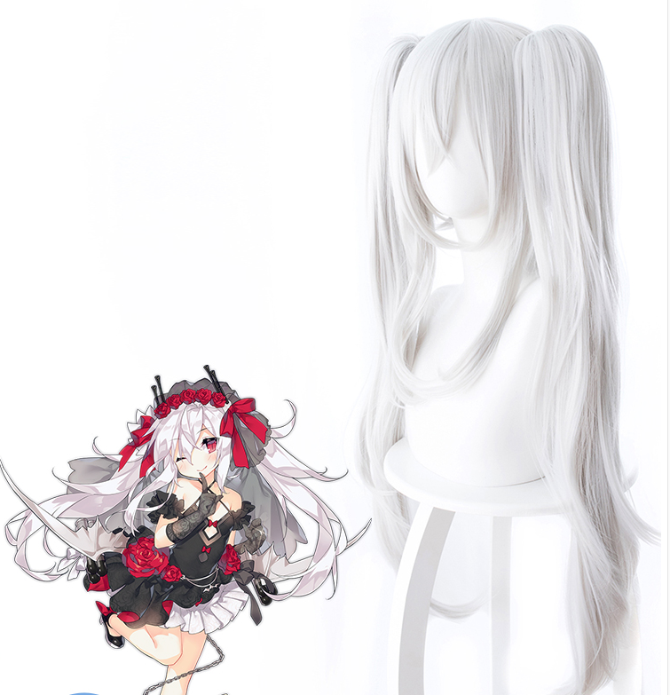 Azur Lane Cosplay Wig 80 cm Long Heat Resistant Synthetic Hair Azur Lane Vampire Wig Halloween Cosplay Props