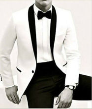 Custom Made Mens Wedding Suits White Jacket Bridal Groom Suits Business Tuxedos white suits tpb