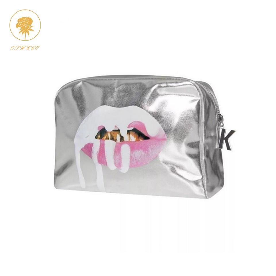 OSWEGO  Makeup Bag Women  Make Up Tote Bag Zipper Fashion Large PU Travel Cosmetic Bag Organizer Women Makeup Bag 2018