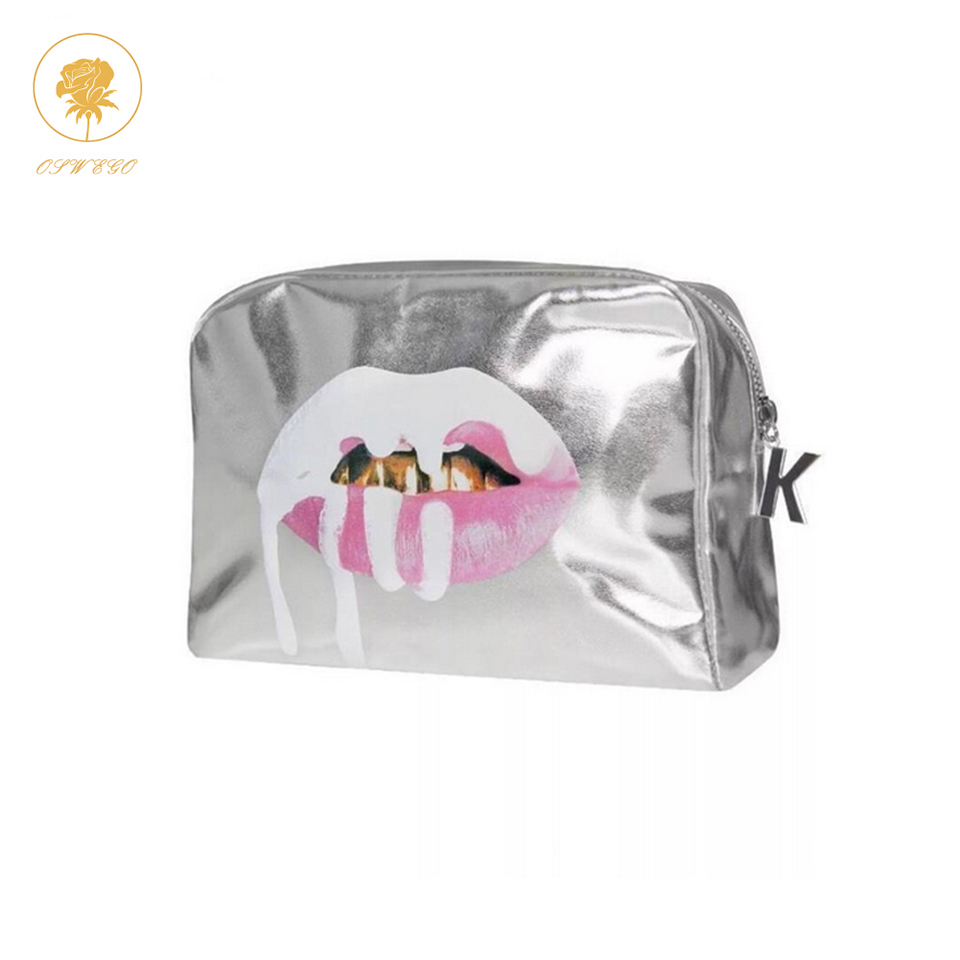 Oswego  Makeup Bag Women Make Up Tote Bag Zipper Fashion Large PU Travel Cosmetic Bag Organizer Women Makeup Bag 2019