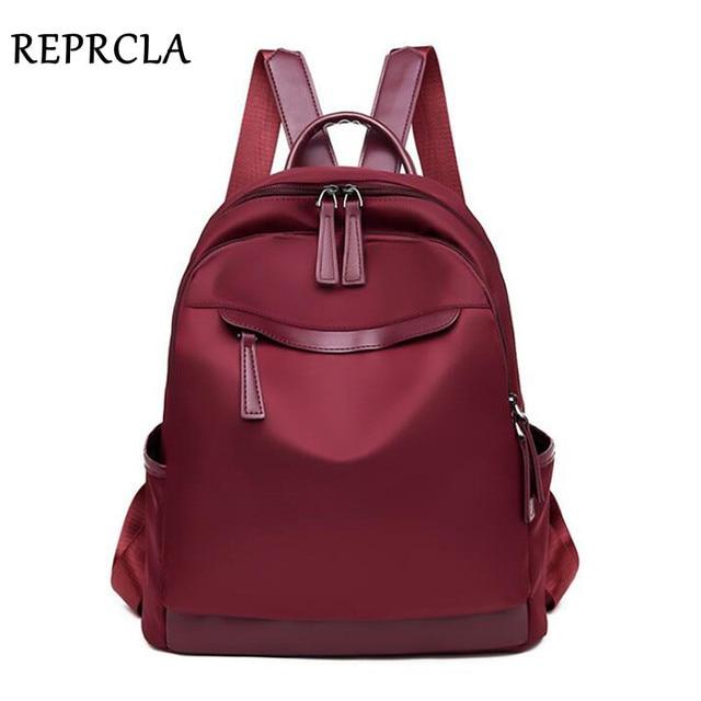 REPRCLA 2019 Fashion Waterproof Backpack Women Travel Bagpack High Quality School Shoulder Bags for Teenage Girls mochila