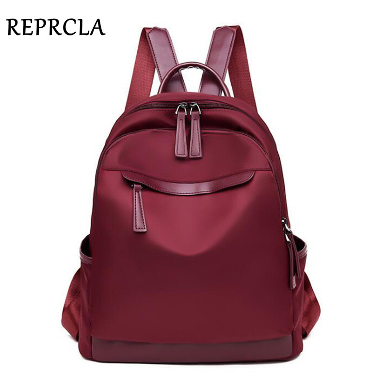 REPRCLA 2019 Fashion Waterproof Backpack Women Travel Bagpack High Quality School Shoulder Bags For Teenage Girls Mochila