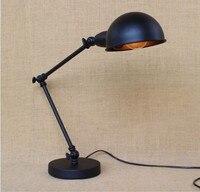 แปลกMordernโคมไฟตั้งโต๊ะสำหรับห้องนอนสีดำ