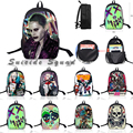Suicide Squad Backpack Harley Quinn Joker Shoulder Anime School Bags Laptop Backpack/Travel Mochila Escolar Skeleton For Gift