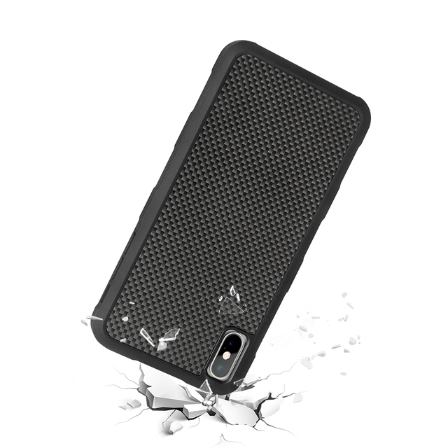 3D Textured Carbon Fiber Case for Iphone X, XS, XR, XS MAX