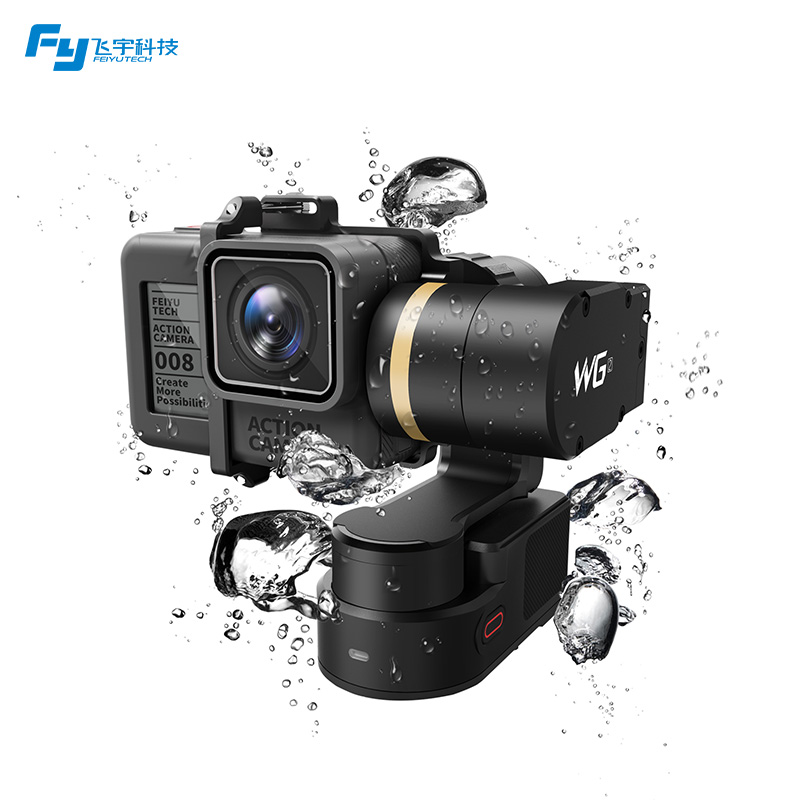 FeiyuTech Newest WG2 Waterproof Wearable 3-axis Gimbal Stabilizer for Gopro 4/5/session YI 4K/SJCAM/AEE Action Camera Hot new 4 wheels mobile rolling sliding dolly stabilizer skater slider motorized push cart tractor for gopro 5 4 3 3 2 1 camera