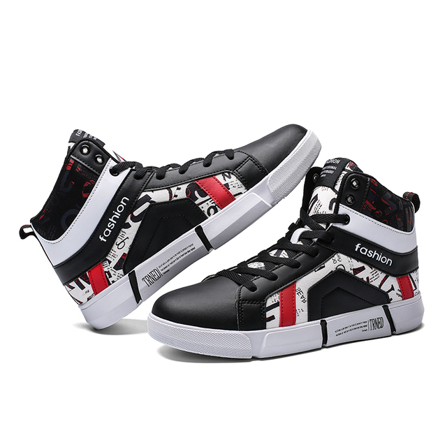 Male High Top Sneakers Men's Trainers Fashion Casual Shoes Adult Chaussures Homme Luxury Brand Comfortable Krasovki Men Footwear