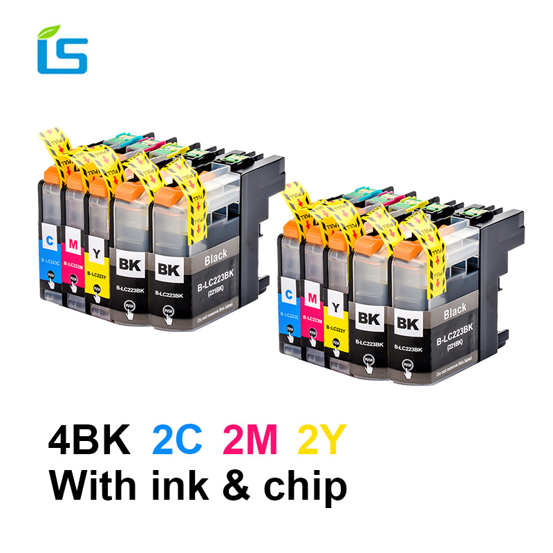 5Pcs/set lc 223 LC223 LC221 Compatible Ink Cartridge For Brother LC223 MFC-J4420DW J4620DW J4625DW J5625DW J480DW J680DW J880DW5Pcs/set lc 223 LC223 LC221 Compatible Ink Cartridge For Brother LC223 MFC-J4420DW J4620DW J4625DW J5625DW J480DW J680DW J880DW