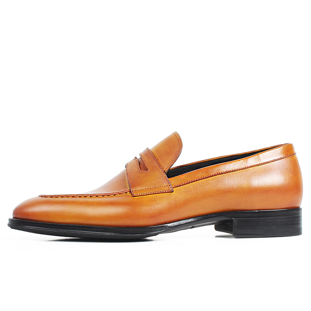 Slip-On Leather Patina Loafers 1
