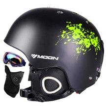 Поступление в 18-32 дня! лунный лыжный шлем Ультралегкий и интегрально-литой дышащий шлем для сноуборда мужчины женский скейтборд шлем