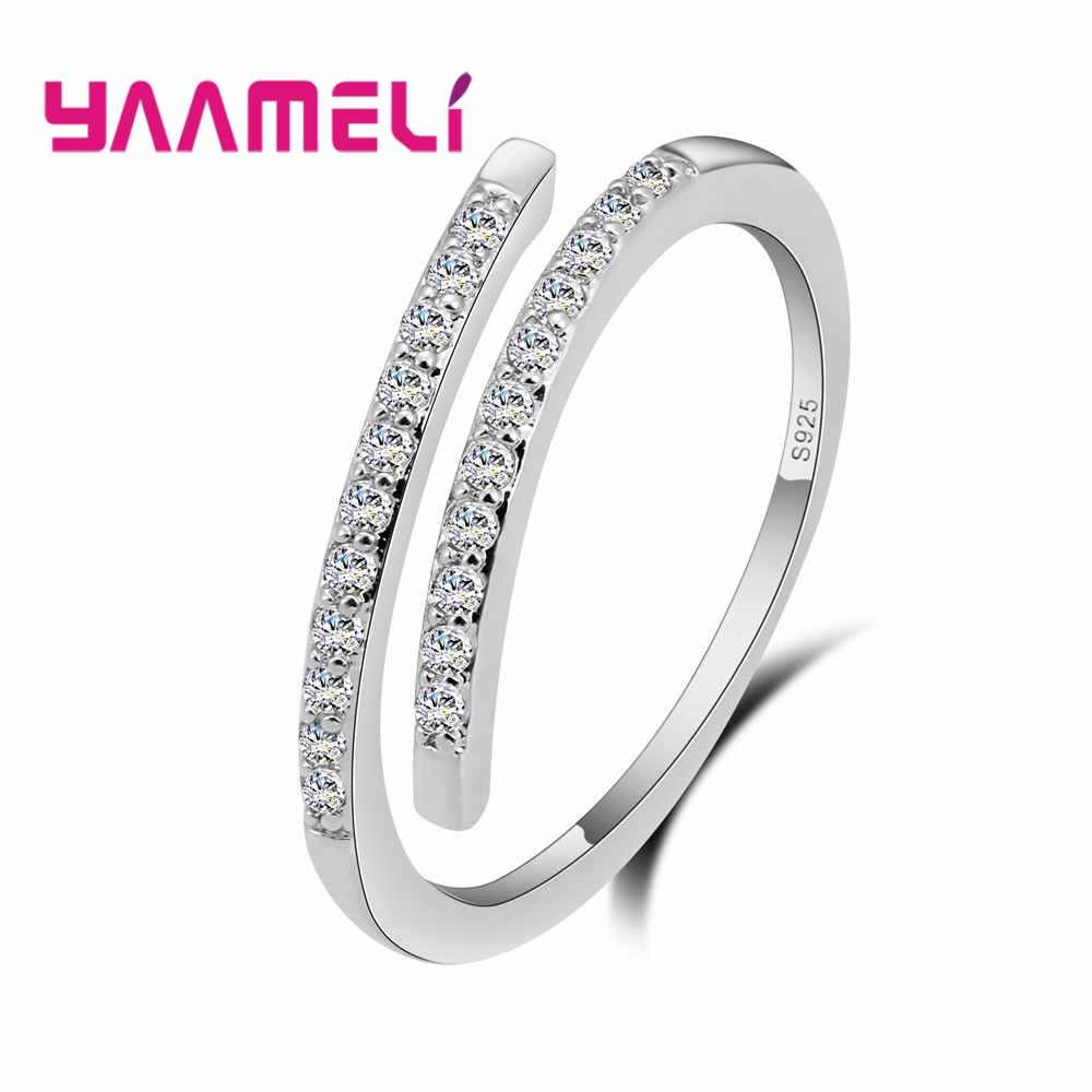 Hot Sell Authentic 925 Silver  Infinity Rings for Women Gift Crystal Cubic Zircon Stone Party Jewelry Accessory