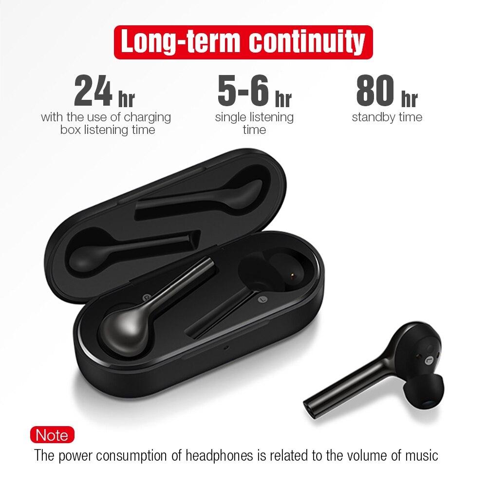 TOMKAS Mini TWS Bluetooth écouteur sans fil casque Freebud contrôle tactile Sport casque avec double Microphone pour téléphone portable - 5
