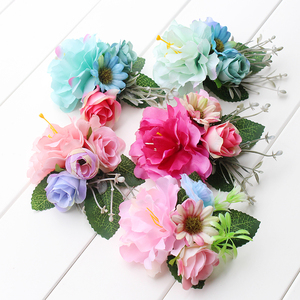 multi color Hair Clip in Women's Hair Accessories Hairpins Female Girls Pony Floral Headwear wedding Woman Hair Ornament