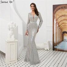 1e934f26453 Muslim Langarm Kaftan Dubai Arabisch Türkisch Meerjungfrau Formale Abend Party  Abendkleid Kleid Quaste Kleider Kleider BLA6544